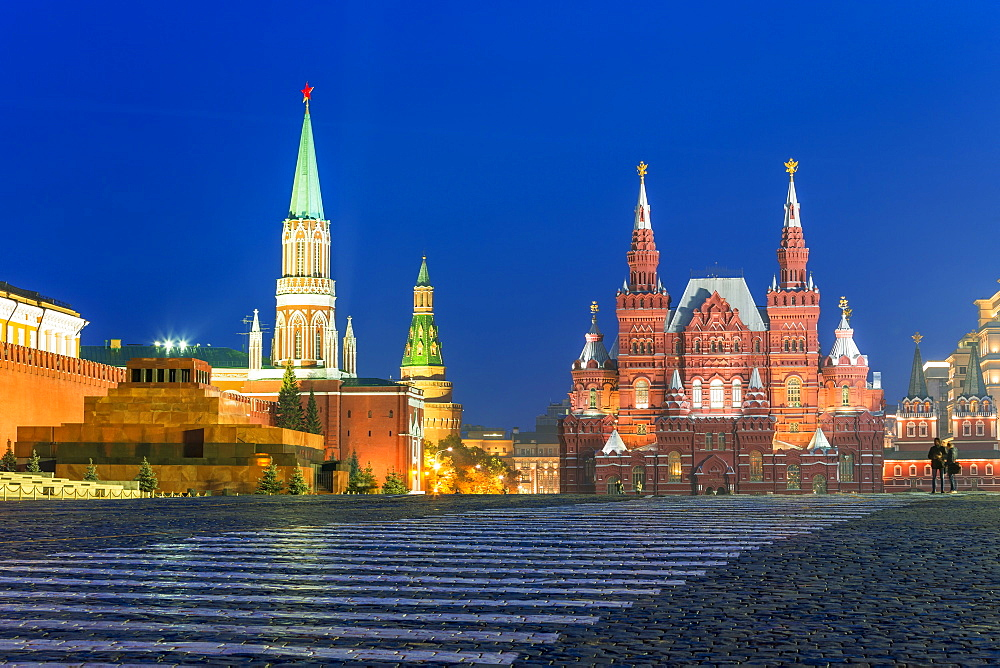 Red Square and the State History Museum, UNESCO World Heritage Site, Moscow, Russia, Europe