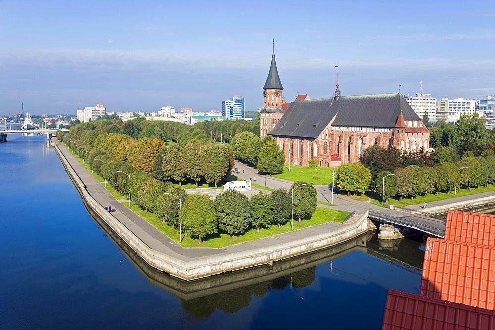 Old Cathedral on Kants Island, UNESCO World Heritage Site, Kaliningrad (Konigsberg), Russia, Europe