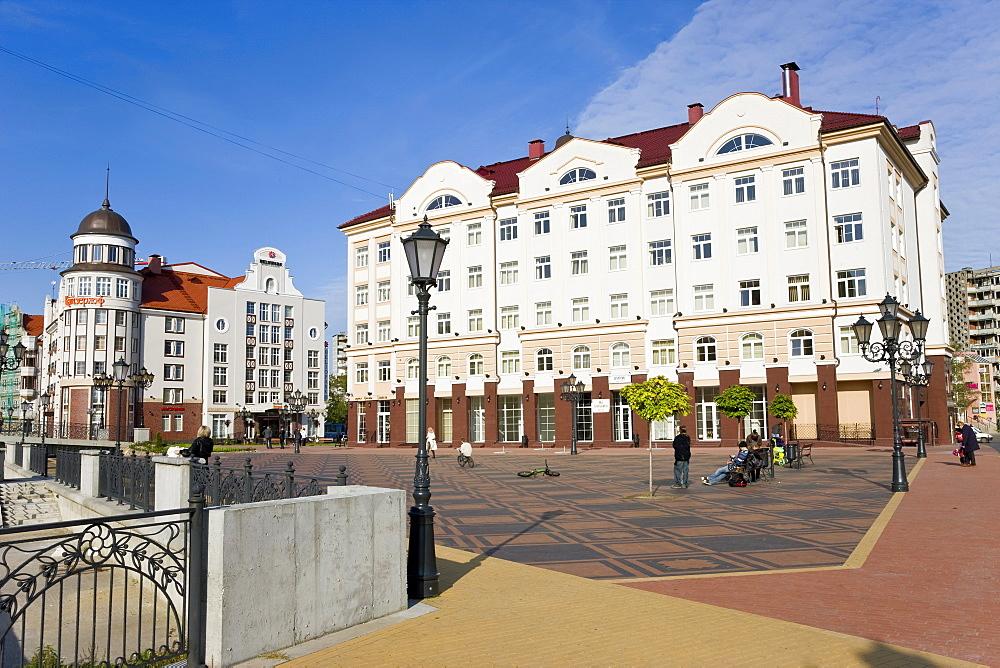 Fish Village, modern housing, hotel and restaurant development, Kaliningrad (Konigsberg), Russia, Europe