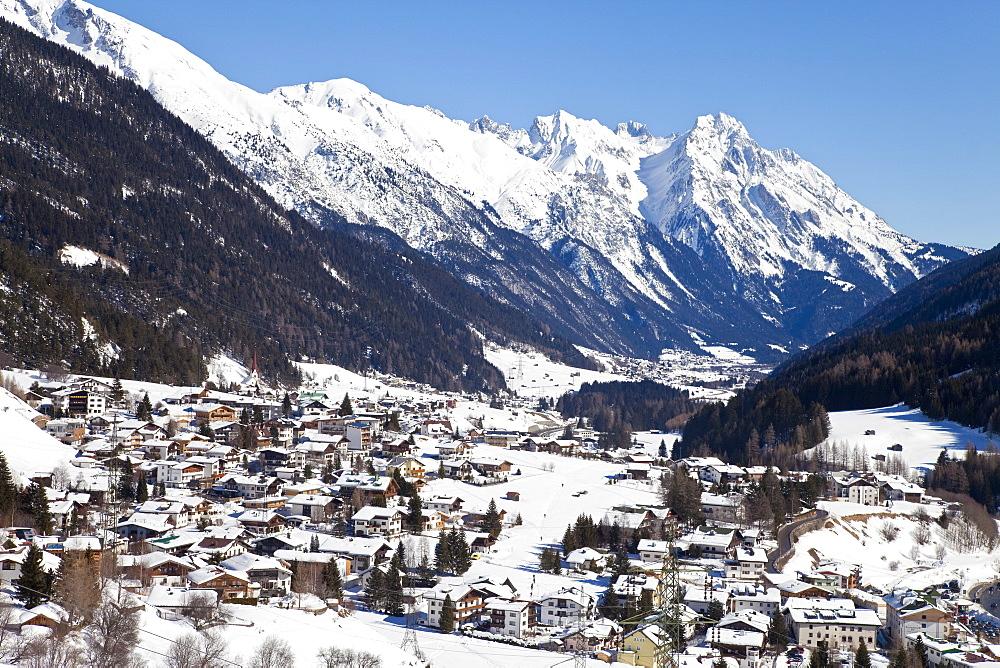 View towards St. Jakob, St. Anton am Arlberg, Tirol, Austrian Alps, Austria, Europe
