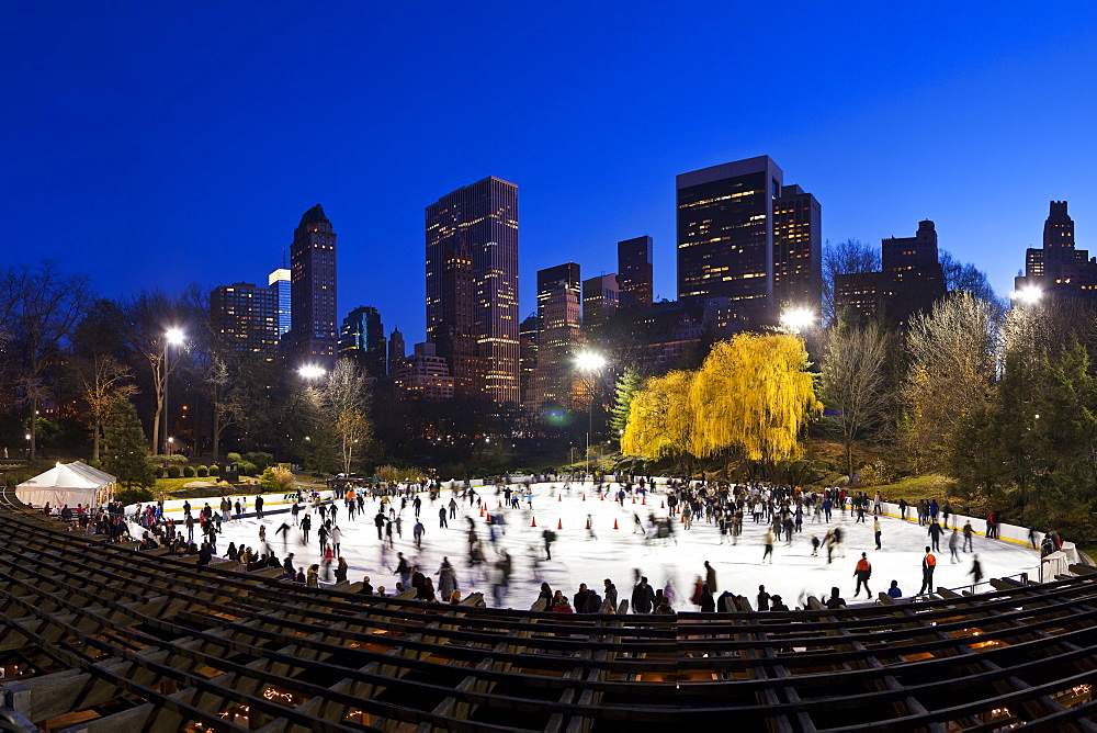 Wollman Ice rink in Central Park, Manhattan, New York City, New York, United States of America, North America