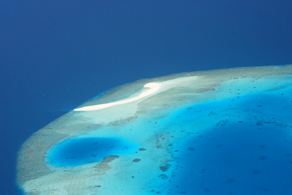 Aerial view Male Atoll, Maldives, Indian Ocean, Asia