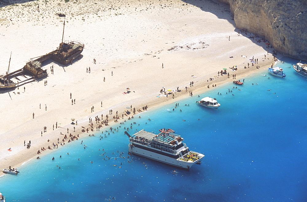 Shipwreck Cove, Zakinthos, Ionian Islands, Greek Islands, Greece, Europe - 795-286