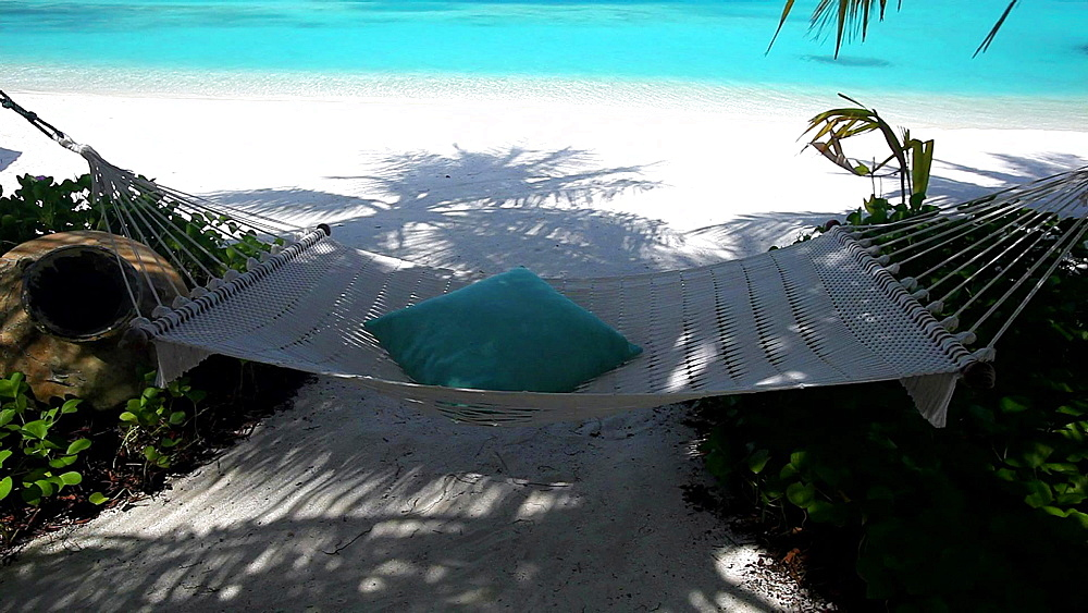 Hammock and tropical beach, Maldives, Indian Ocean