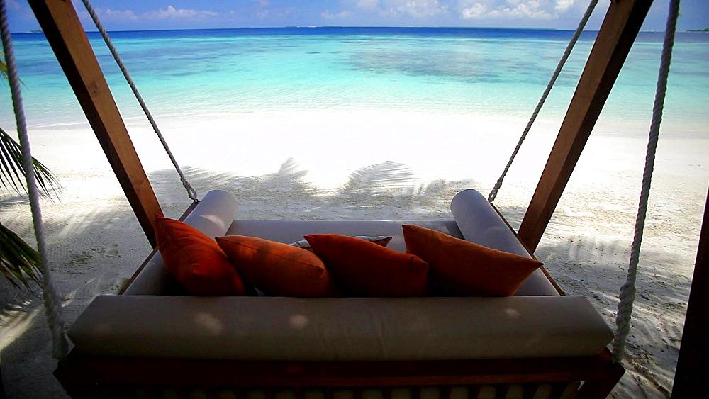 Swing on a tropical beach, Maldives, Indian Ocean