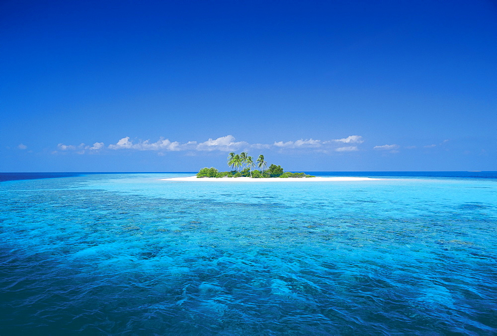 Tropical desert island, Maldives, Indian Ocean, Asia - 795-63