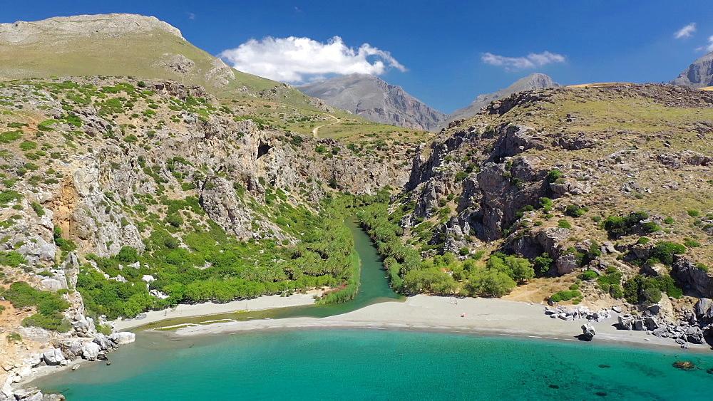 Preveli Beach, Rethymno, Crete Island, Greece