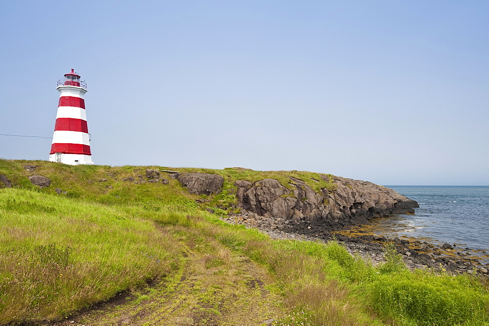 Brier Island Lighthouse, Nova Scotia, Canada, North America