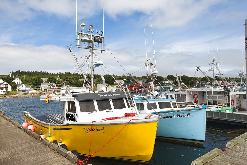 Westport village, Brier Island, Nova Scotia, Canada, North America