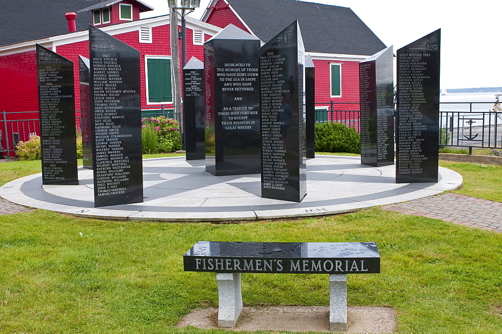 Fishermen's Memorial in Lunenburg, Nova Scotia, Canada, North America