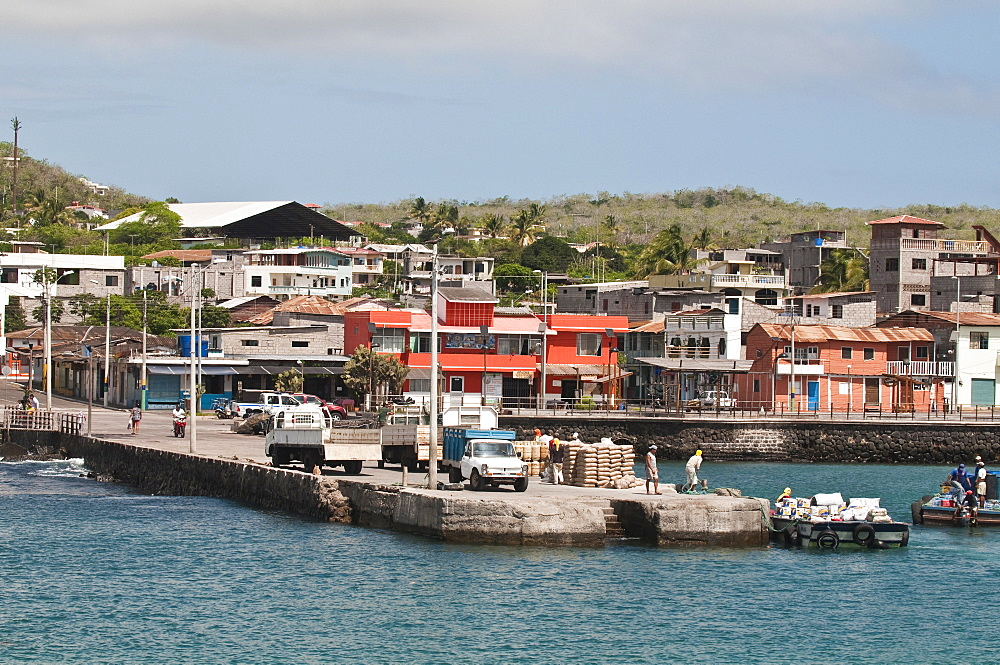 Puerto Baquerizo Moreno, capital of the Galapagos, Isla San Cristobal (San Cristobal Island), Galapagos Islands, UNESCO World Heritage Site, Ecuador, South America
