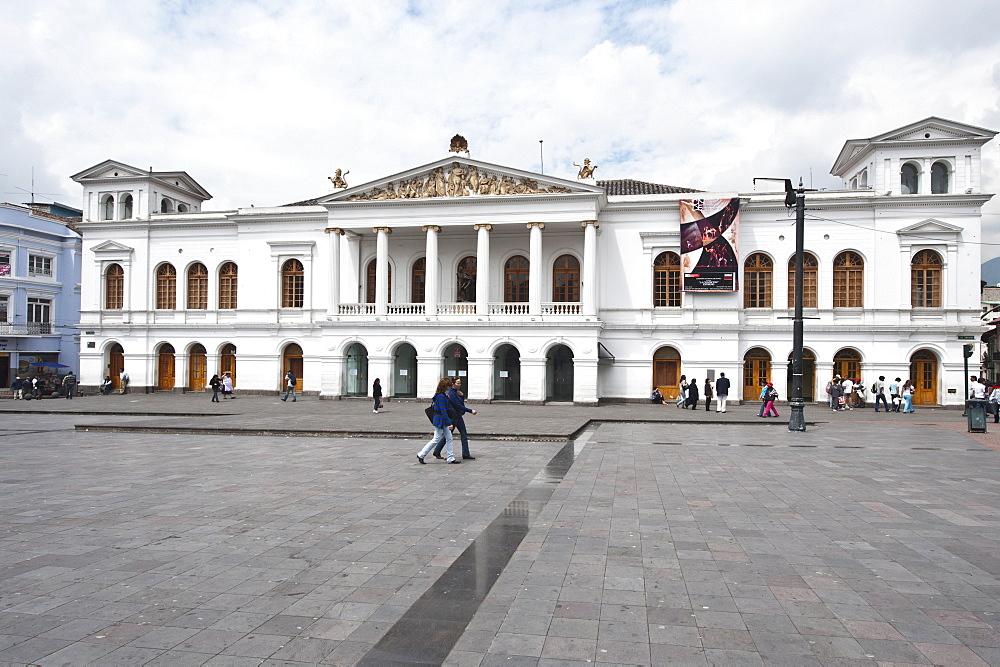 The Teatro Nacional Sucre, Historic Center, Quito, Ecuador, South America