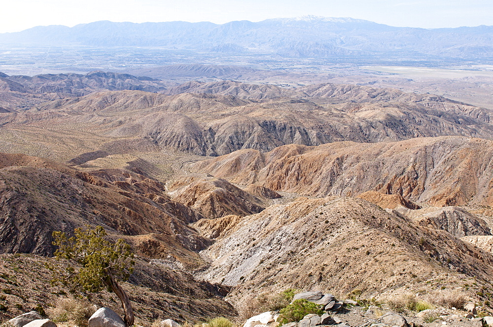 View of the Coachella Valley from Keys View, Joshua Tree National Park, California, United States of America, North America