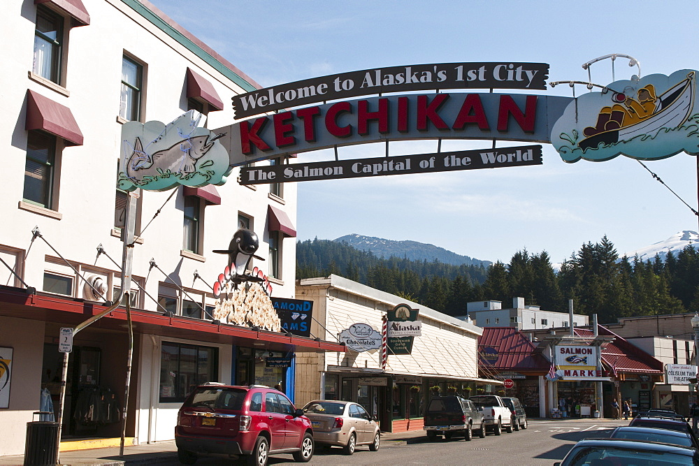 Main Street Ketchikan, Southeast Alaska, United States of America, North America