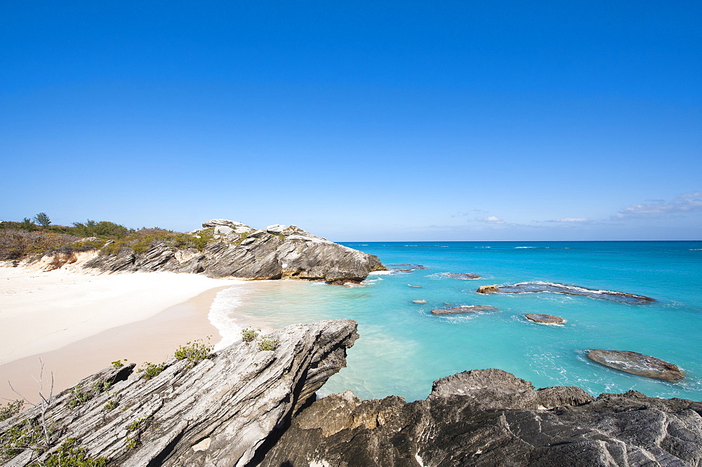 Stonehole Bay beach, Bermuda, Central America
