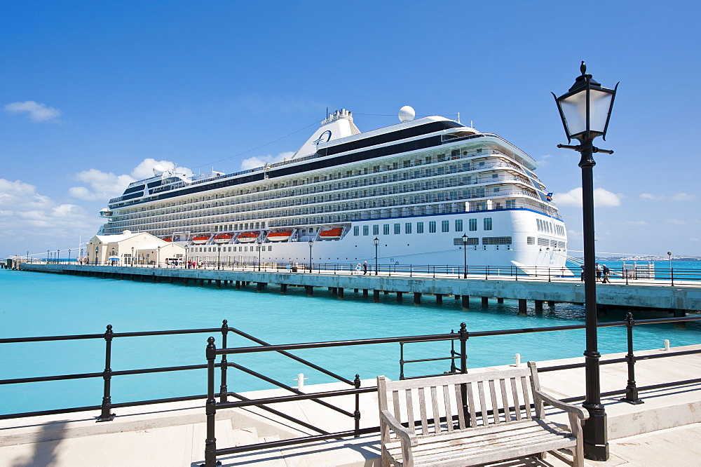 Cruise terminal in the Royal Naval Dockyard, Bermuda, Central America
