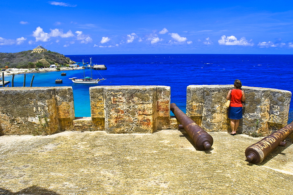 Fort Beekenburg, Caracas Bay, Curacao, Netherlands Antilles, West Indies, Caribbean, Central America
