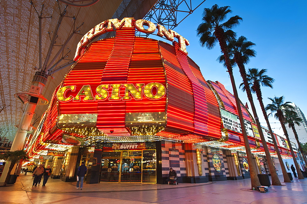 Fremont Casino and the Fremont Street Experience, Las Vegas, Nevada, United States of America, North America