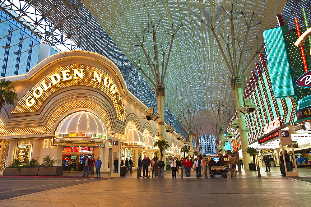 Golden Nugget Casino and  Fremont Street Experience, Las Vegas, Nevada, United States of America, North America