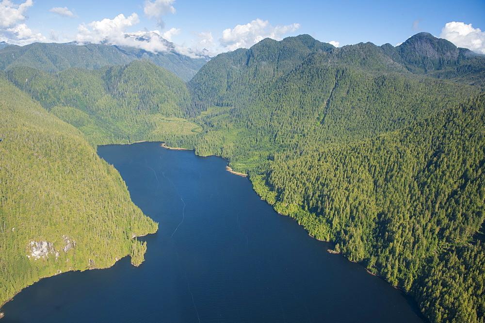 Coastal scenery in Great Bear Rainforest, British Columbia, Canada, North America  - 796-1864