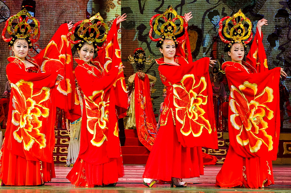 Tang Dynasty Stage Show, XIan, China, Asia - 796-2083