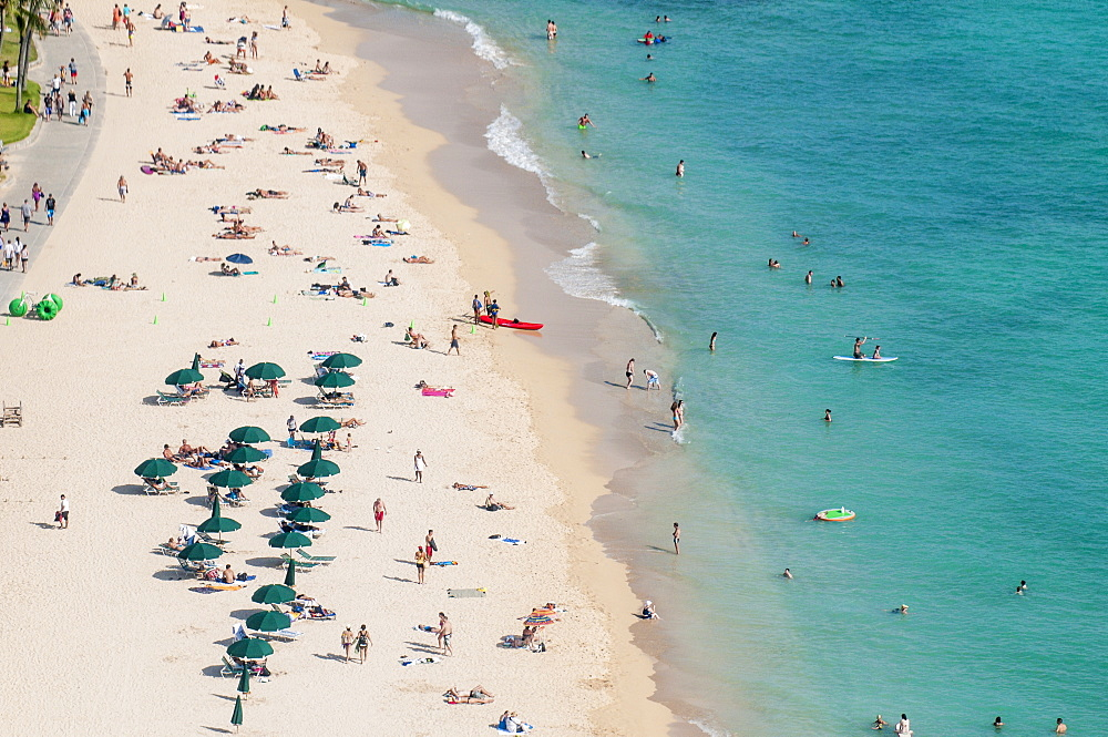 Waikiki Beach, Waikiki, Honolulu, Oahu, Hawaii, United States of America, Pacific