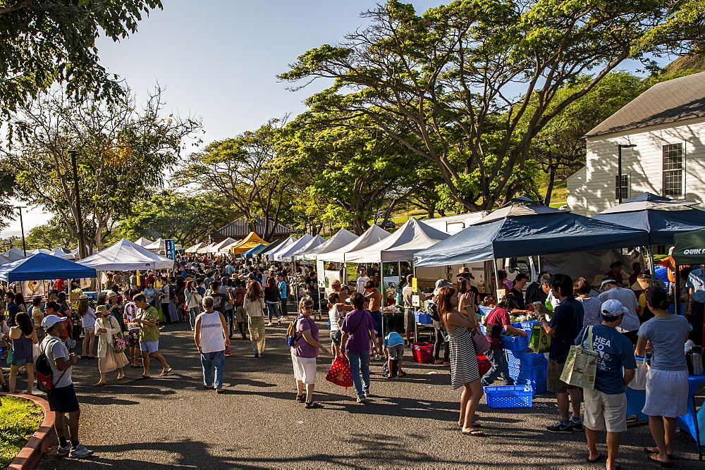 Saturday farmer's market Honolulu, Oahu, Hawaii.