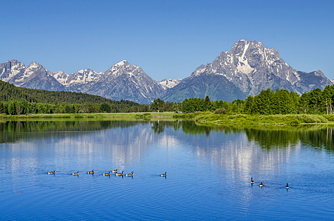 Small lake in Grand Teton National Park, Wyoming, United States of America, North America - 796-2283