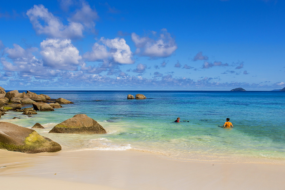 Anse Soleil beach, Mahe, Republic of Seychelles, Indian Ocean, Africa