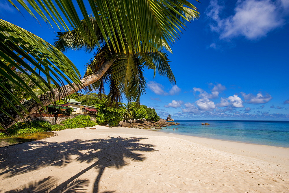 Anse Soleil beach, Mahe, Republic of Seychelles, Indian Ocean.