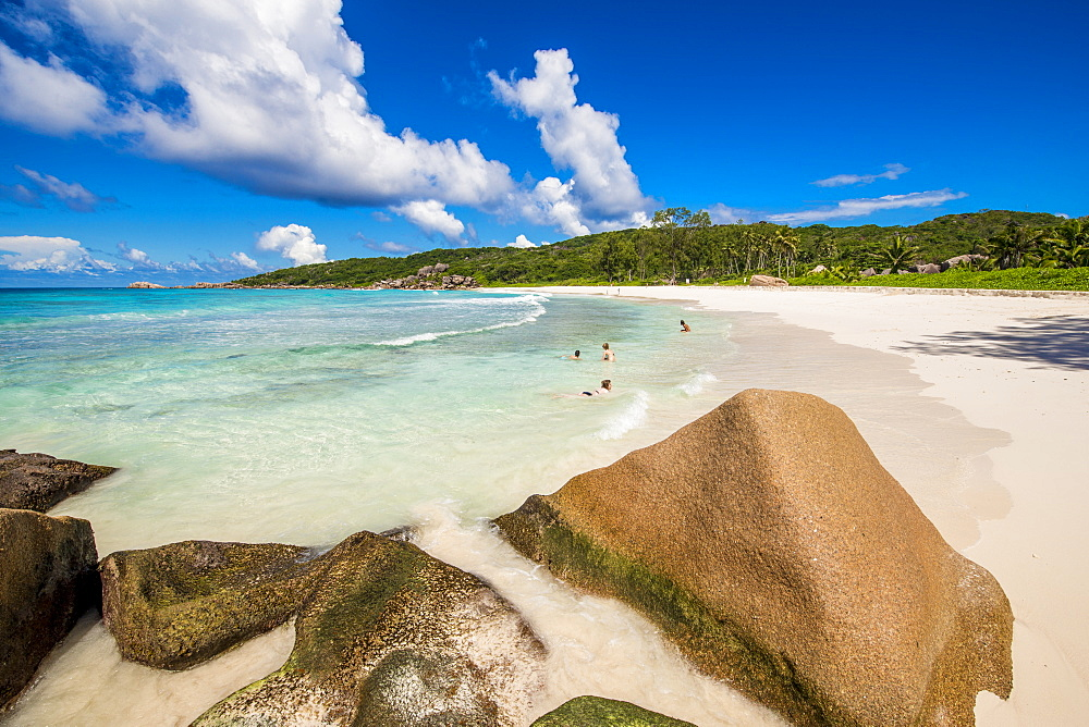 Grand Anse Beach, La Digue, Republic of Seychelles, Indian Ocean, Africa - 796-2338