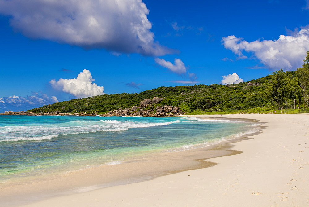 Grand Anse Beach, La Digue, Republic of Seychelles, Indian Ocean.