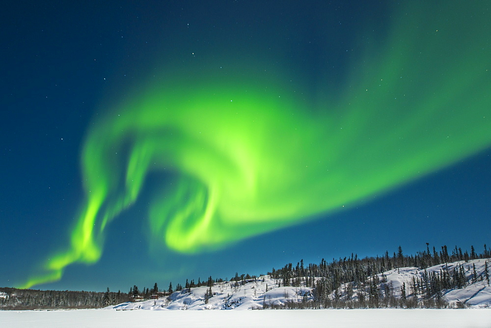 Aurora Borealis (Northern Lights), Yellowknife, Northwest Territories, Canada, North America - 796-2351