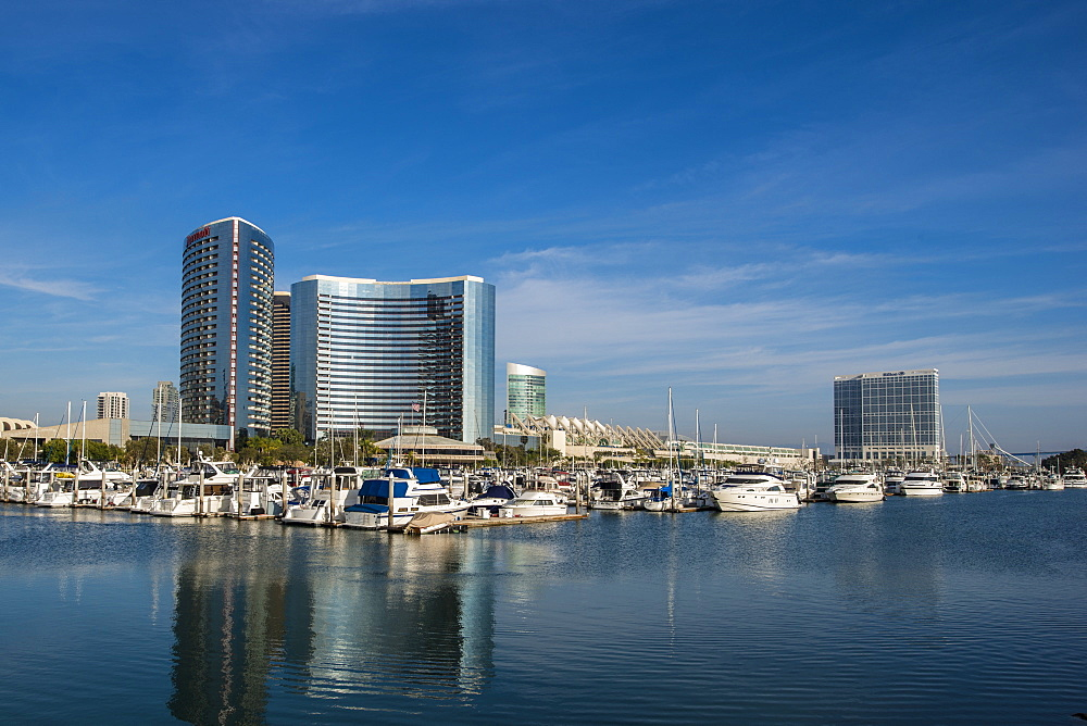 The San Diego skyline and harbor, San Diego, California, United States of America, North America - 796-2364