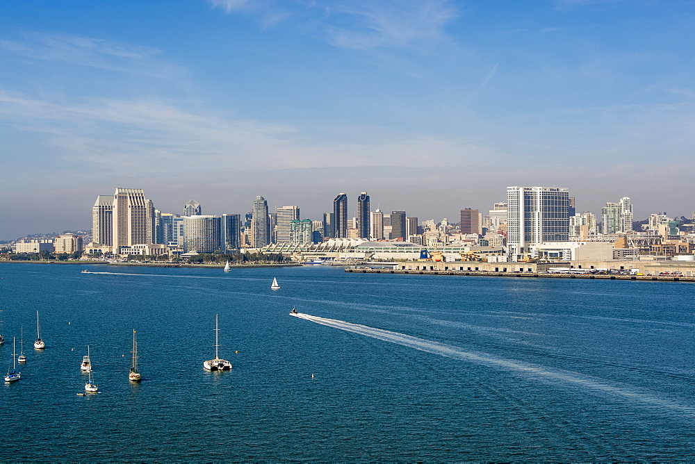 The San Diego skyline and harbor, San Diego, California, United States of America, North America - 796-2366