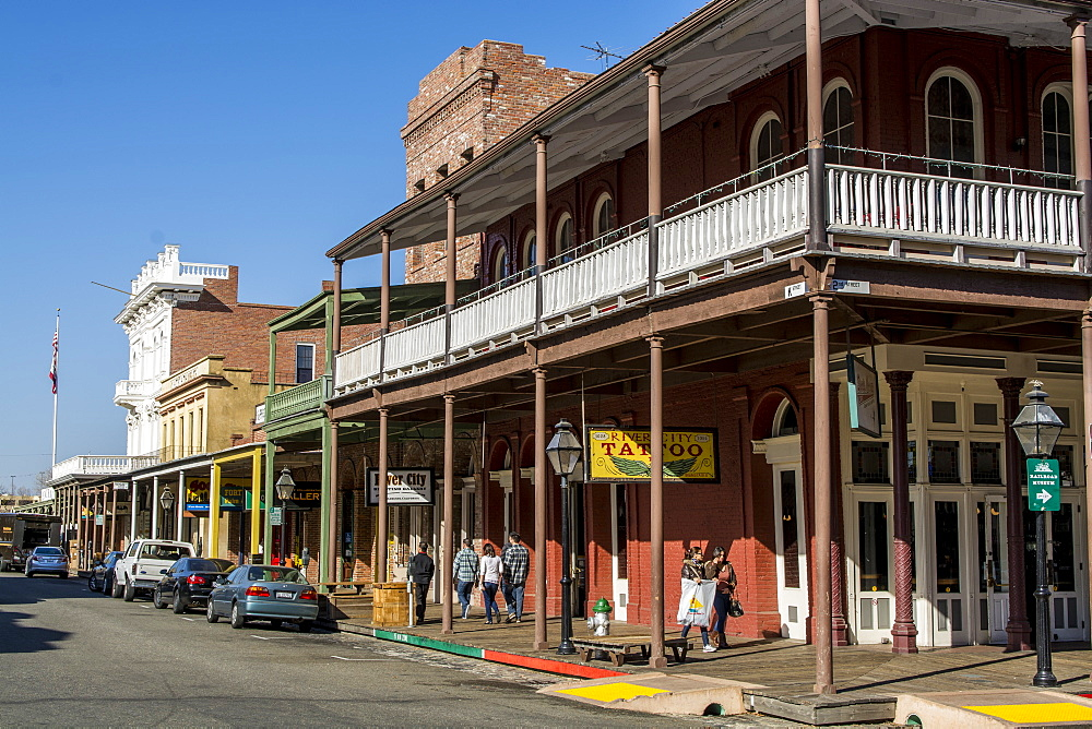 Old Sacramento State Historic Park, Old Sacramento Historic Center, Sacramento, California, United States of America, North America - 796-2368