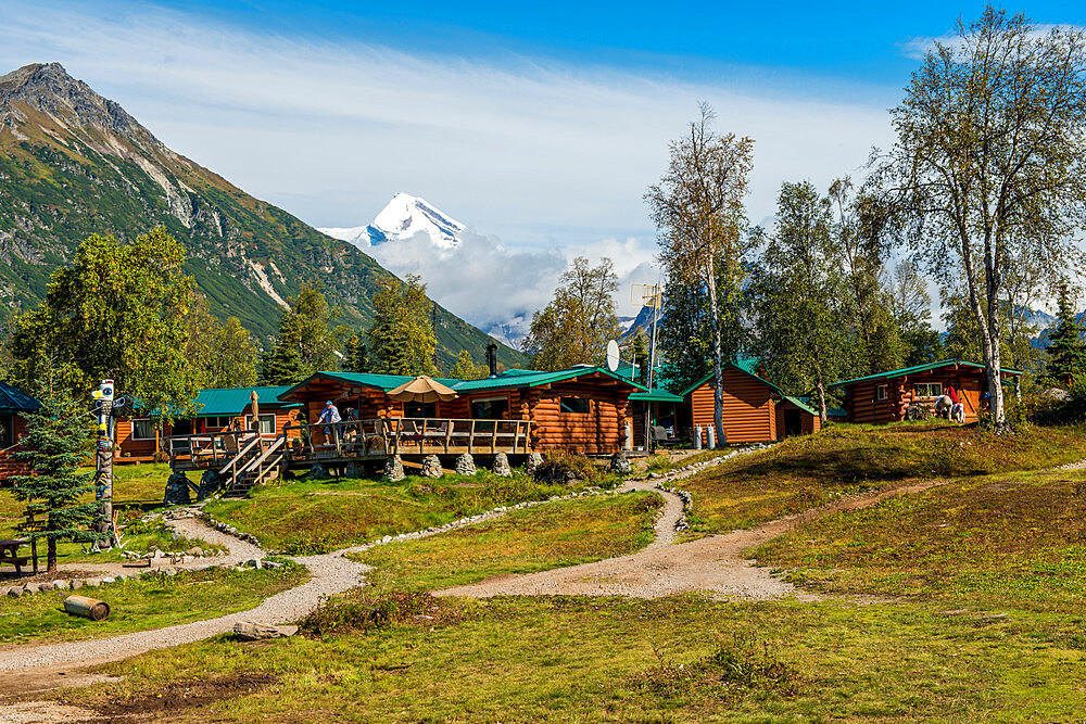 Redoubt Mountain Lodge on Crescent Lake, Lake Clark National Park and Preserve, Alaska, United States of America, North America - 796-2395
