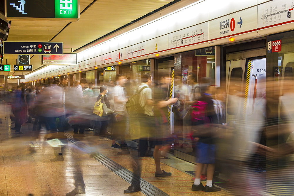 Hong Kong's public tranist system Mass Transit Railway (MTR), Kowloon, Hong Kong, China. - 796-2402