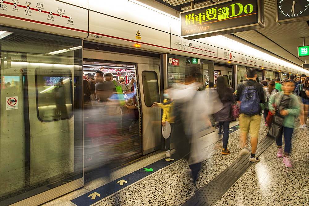 Hong Kong's public tranist system Mass Transit Railway (MTR), Kowloon, Hong Kong, China.