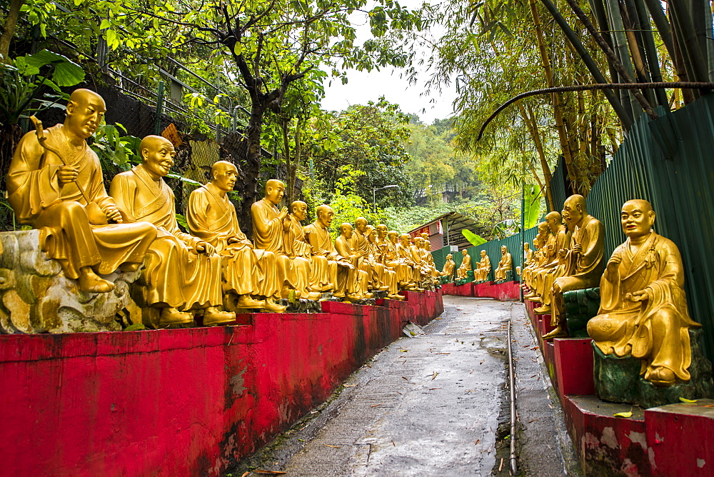 Ten Thousand Buddhas Monastery, Sha Tin, Hong Kong, China. - 796-2409