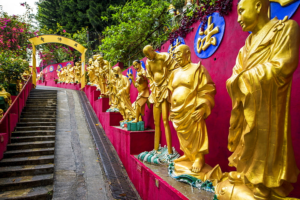 Ten Thousand Buddhas Monastery, Sha Tin, Hong Kong, China, Asia