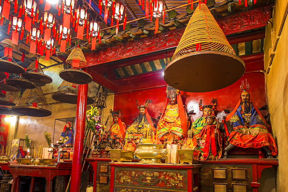 Man Mo Temple, Sheung Wan, Hong Kong Island, Hong Kong, China.
