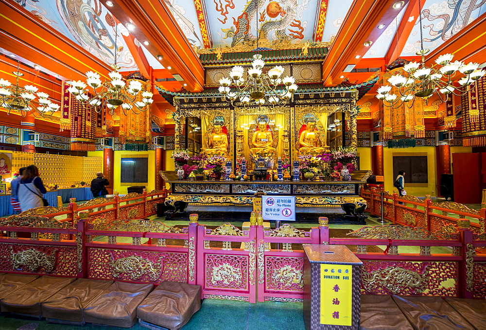 Grand Hall of Ten Thousand Buddhas at the The Big Buddha and Po Lin Monastery, Lantau Island, Hong Kong, China. - 796-2422