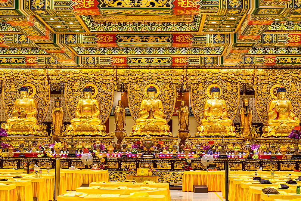 Grand Hall of Ten Thousand Buddhas at the The Big Buddha and Po Lin Monastery, Lantau Island, Hong Kong, China, Asia - 796-2423