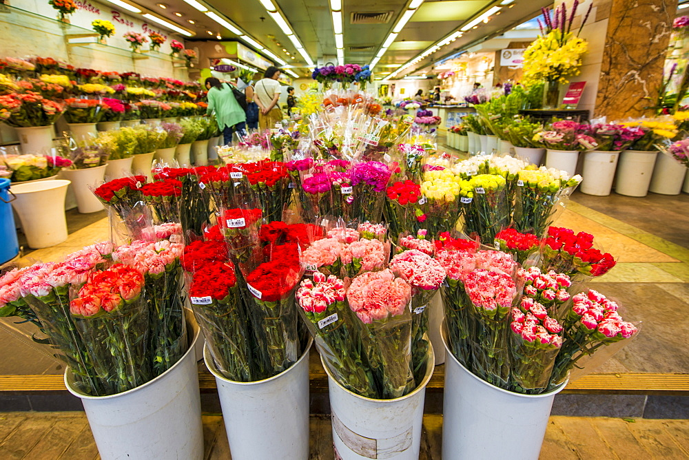 Flower Market on Flower Market Road, Mongkok, Kowloon, Hong Kong, China, Asia