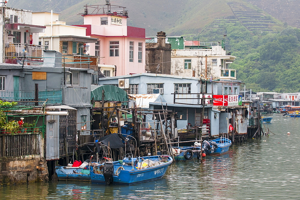 Stilt houses in Tai O Village, Lantau Island, Hong Kong, China. - 796-2429