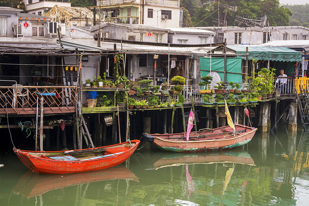 Stilt houses in Tai O Village, Lantau Island, Hong Kong, China. - 796-2430