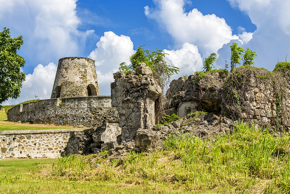 Ruins of Rust Op Twist Sugar Mill Plantation, St. Croix, US Virgin Islands, Caribbean - 796-2444