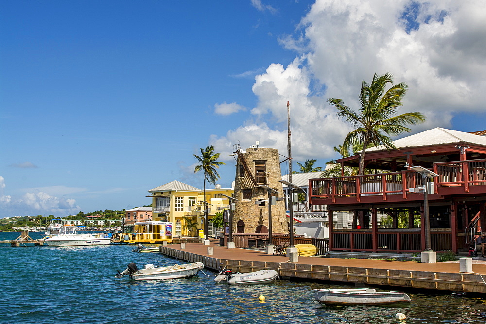 Christiansted harbour, St. Croix, US Virgin Islands, Caribbean - 796-2447