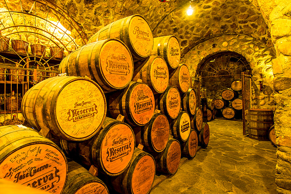 Jose Cuervo Tequila distillery cellar, Tequila, UNESCO World Heritage Site, Jalisco, Mexico. - 796-2481